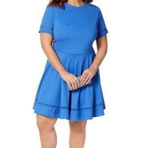 NWT City Studio Size 18 Blue Mini Dress
